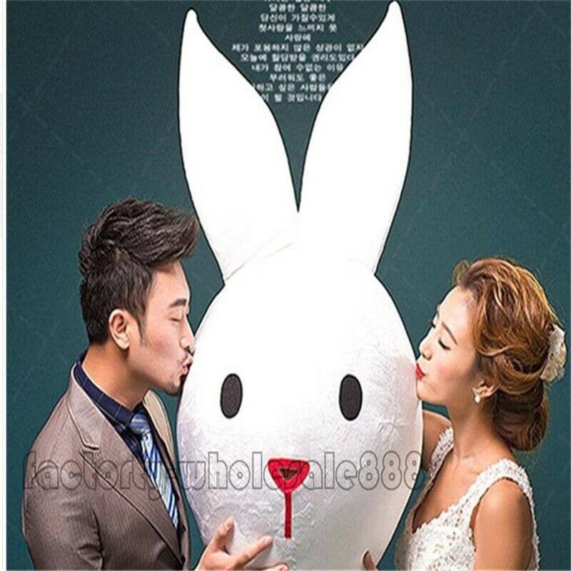 Publicité carnaval lapin de pâques blanc tête de lapin mascotte Costume de mariage Festival Cosplay partie jeu robe adultes taille