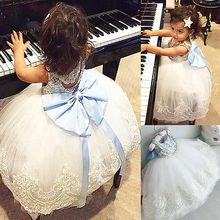 2017 New Baby Kids Girls Party Gown Formal Dress
