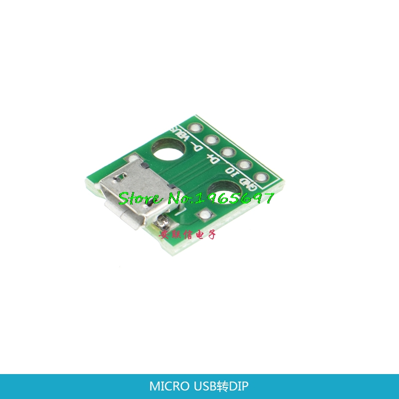 10pcs/lot USB To DIP Adapter 5pin Female Connector B Type Pcb Converter Pinboard 2.54 In Stock