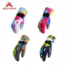 Новые лыжные перчатки для мужчин и женщин, теплые зимние водонепроницаемые перчатки для сноуборда, снегохода, езды на мотоцикле, уличные перчатки