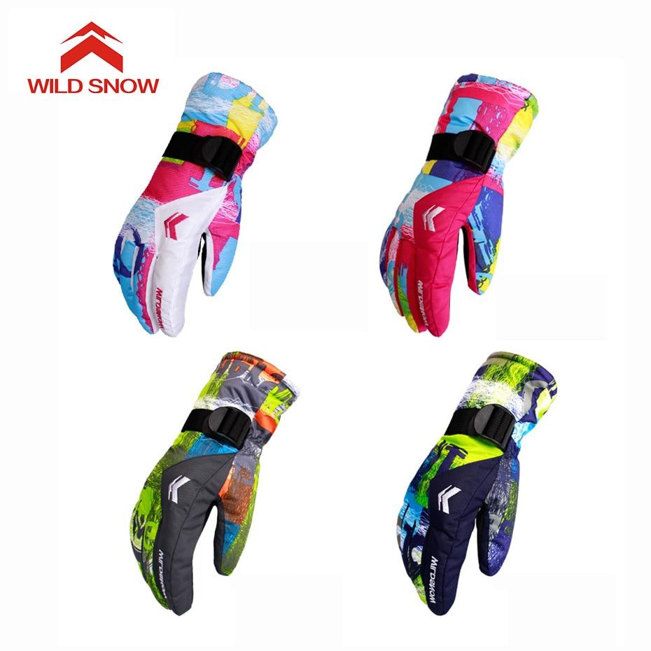 Wild Snow Brand New Ski Gloves Men Women Warm Winter Waterproof Snowboard Gloves Snowmobile Riding Motorcycle Outdoor Gloves