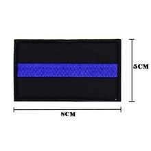 THIN BLUE LINE POLICE MORALE PATCH LAW ENFORCEMENT OFFICER SWAT TACTICAL NYPD PATCH(China)