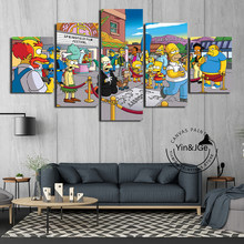 Simpsons Classic Anime Poster And Prints Kids Room Wall Popular Art Canvas Painting Frame Modern Decoration HD Picture Artworks(China)