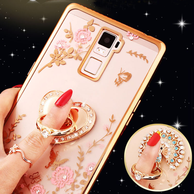 For OPPO R17 PRO R11S R11 R9 Plus R9S Case Luxury Glitter Gold Ring Diamond Flower Cover For OPPO A57 A59 A71 A79 F7 A3 A5 A7X image