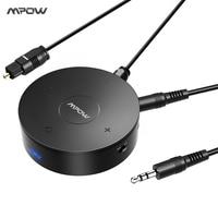 MPOW 2 In 1 Bluetooth Transmitter Wireless Receiver W Digital Optical SPDIF AptX Low Latency Audio