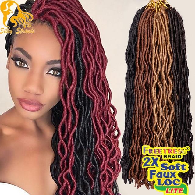Wavy Faux Locs Crochet Braids Hair 24 Havana Mambo Twist