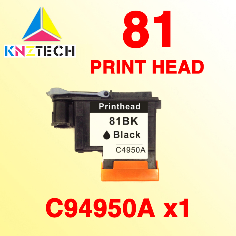 1x Compatible printhead BLACK for HP 81 for Designjet 5000 5000ps 5500 5500ps printer for HP81 Ink Cartridge Head C4950A 3 pc lot printhead cover units for hp81 hp83 print head protector for hp designjet 5000 5500 1000 1050 1055 printer