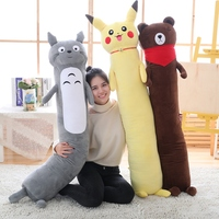 Pikachu Totoro Brown Bear Long Pillow Cushion Stuffed Animal Kawaii Cartoon Toys Kids Present Toys Children Baby Birthday Gift