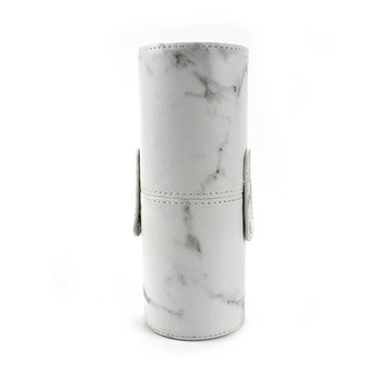 10Pcs/Set Pro Marbling Makeup Brushes Kit Marble Pattern Cylinder PU Brush Bag Power Beauty Make Up Brush Cosmetic Tools 5