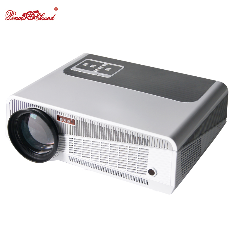 Poner Saund Full Hd New Mini Projector Proyector Led Lcd: Poner Saund Android Smart Projector Free Gift 100
