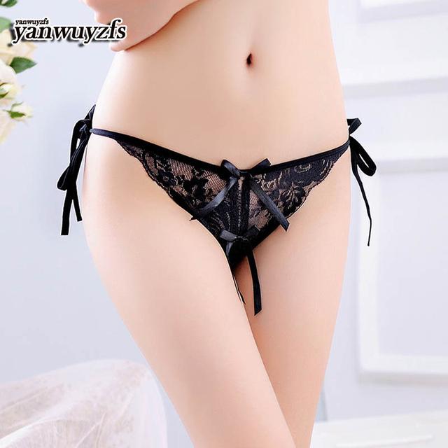 yanwuyzfs 100pcs New Fashion Women Black Sexy Lace Semi-sheer Button Underwear Women Trim Nets Soft Low-Rise Breathable Panties
