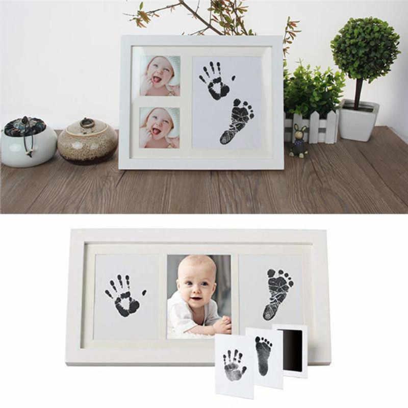 Drop ship Baby Handprint Footprint ปลอดสารพิษทารกแรกเกิดพิมพ์ Inkpad ลายน้ำทารกของที่ระลึก Casting Clay ของเล่นของขวัญ