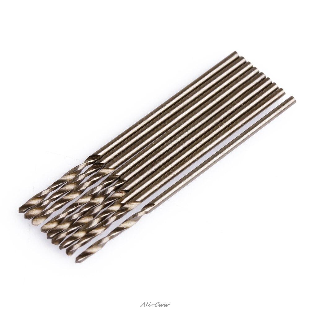 2018 10Pcs/Set 1mm M35 Triangle Shank HSS-Co Cobalt Twist Drill Spiral Drill Bit
