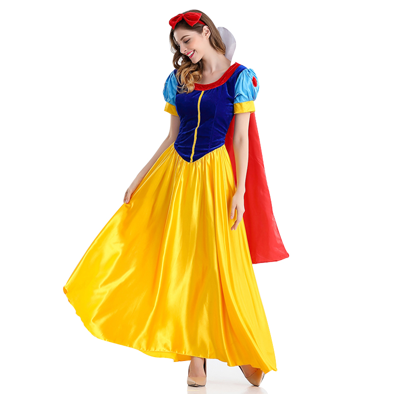 Costumes Snow White Cosplay Halloween for Women Wear Adult Fantasia Carnival Party Cartoon Princess Snow White Dress Costumes