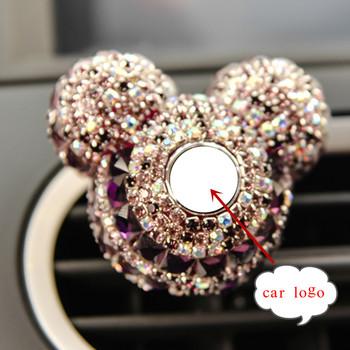Luksusowy samochód Logo perfumy diament klimatyzator wylot klip dekoracji odświeżacz powietrza do samochodu Car Styling damskie perfumy 100 oryginalny tanie i dobre opinie Flower Style Stałe None 1 month MR TEA
