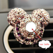 Luxury Car Logo perfume Diamond Air conditioner Outlet clip decoration Car Air Freshener Car Styling Lady Perfumes 100 Original(China)