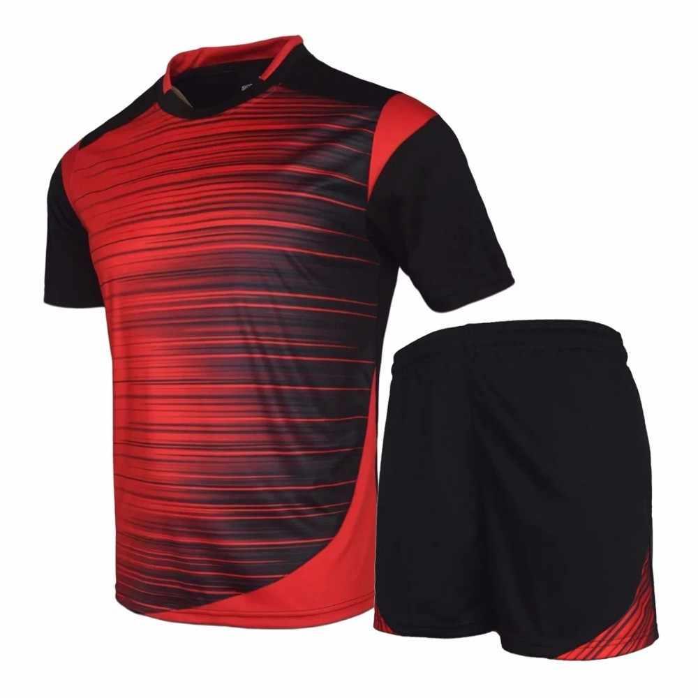 new product 0dd34 0ba62 Men soccer Jerseys 2017 2018 maillot de foot survetement football suits  camisetas de futbol uniforms best quality for men sets