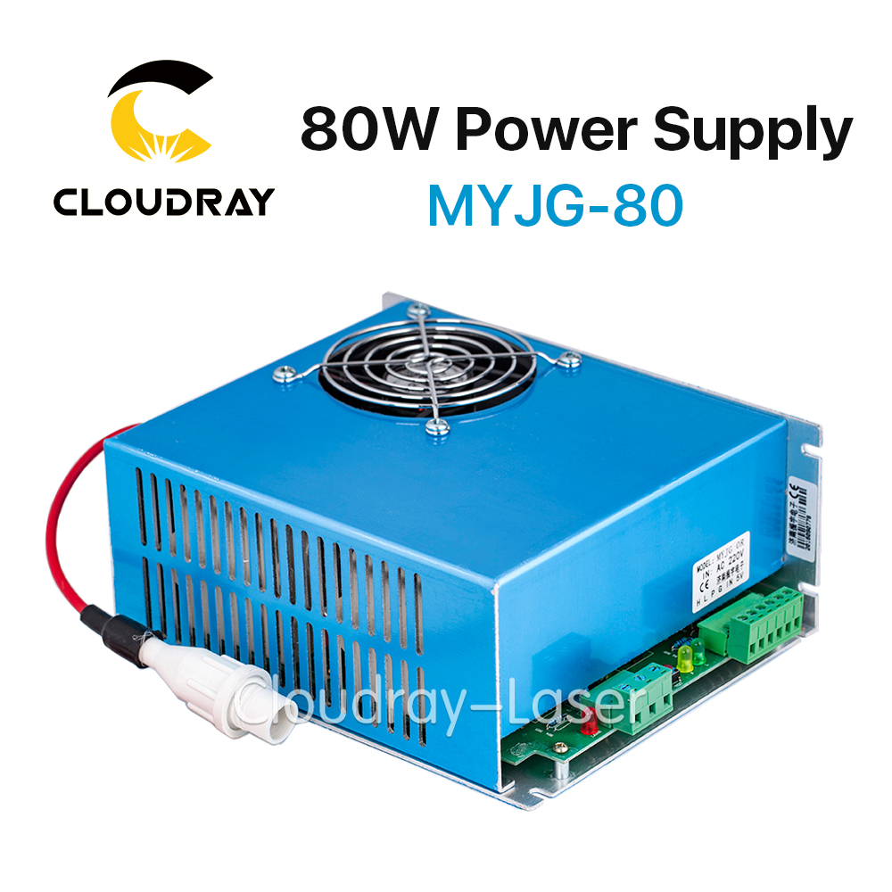 Cloudray 80W CO2 Laser Power Supply for CO2 Laser Engraving Cutting Machine MYJG-80 60w co2 laser power supply for co2 laser engraving cutting machine myjg 60w