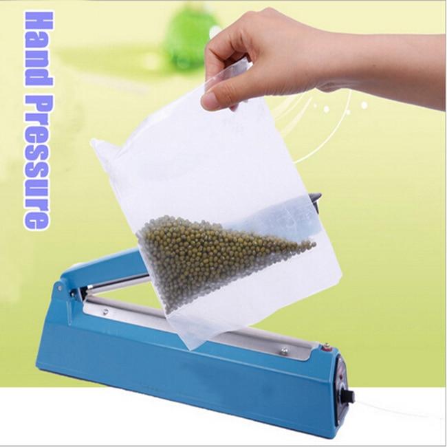 ФОТО AC 220V 200 Hand Pressure PP PE Sealer Plastic Film Manual Sealing Machine Packing Machine GLTHSG332