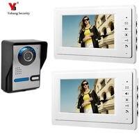 Yobang bezpieczeństwo bezpieczeństwo w domu 7''Inch Monitor przewodowy dzwonek do drzwi wideo dzwonek telefonu Intercom System2 Monitor 1 zestaw do nagrywania wideo w Wideodomofony od Bezpieczeństwo i ochrona na