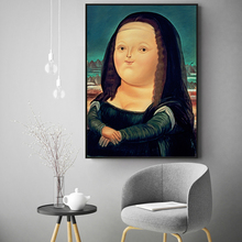 Mona Lisa Lovely Cartoon Abstract Poster Wall Art Canvas Painting Home Picture Decoration