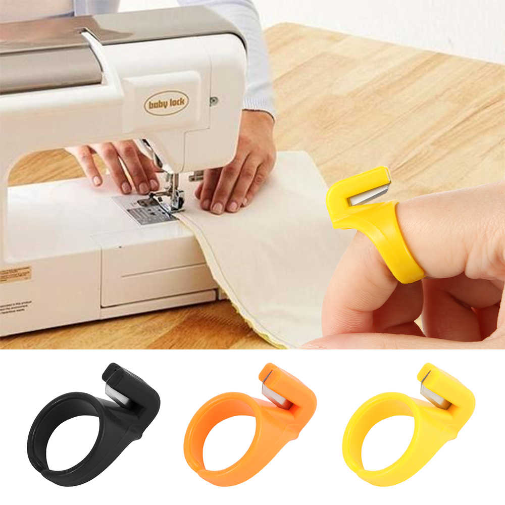 3PCS/set New Finger Blade Needle Craft Home Plastic Thimble Sewing Ring Thread Cutter DIY Household Sewing Machine Accessory