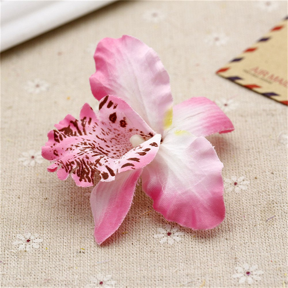 ③20pcs Silk Butterfly Orchid Artificial Flower Wedding decoration ...