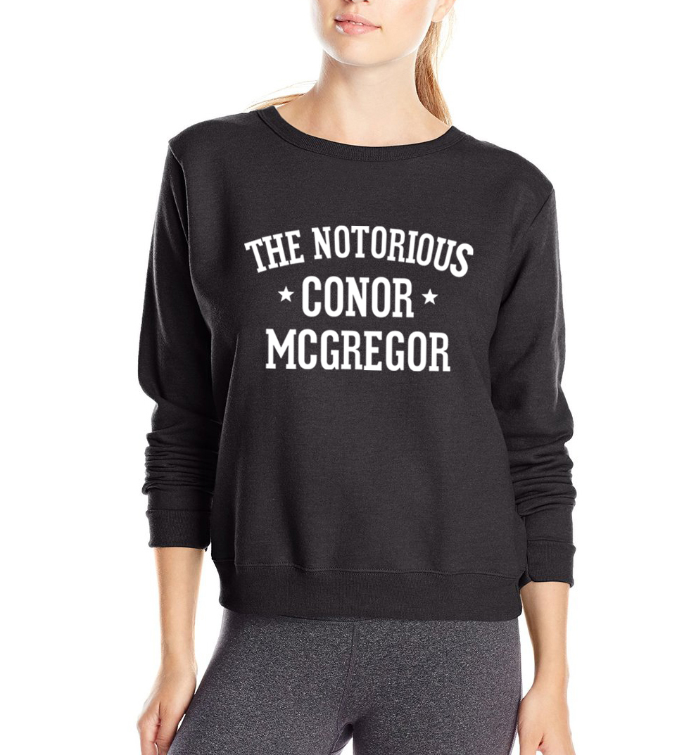 2019 fashion The Notorious Conor McGregor Letters Print Women sweatshirt kawaii hoodies loose fit tracksuit fleece pullover