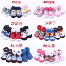 3Pairs/Lot Newborn Baby Unisex Boys Girls Newborn Baby First Walkers Winter Autumn Sports Socks Infant Toddler Cotton Socks