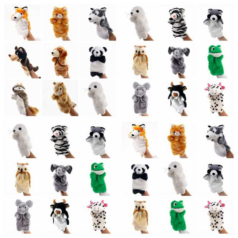 Cute Animals Hand Puppet Puppet Plush Dolls For Kids Panda Mouse Finger Puppet Glove Learning Baby Toys Animals Hand Puppets Toy