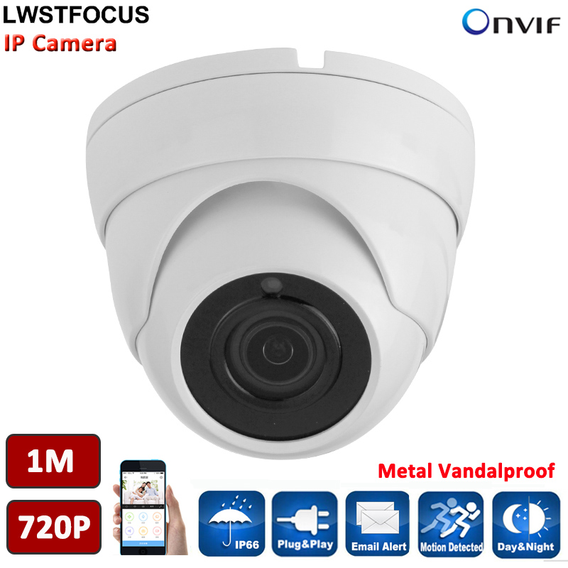 HD IP Camera 720P Indoor Dome Cam IR Lens 3.6mm 2MP IP CCTV Security Camera Network Onvif P2P Android iPhone Freeip pro View