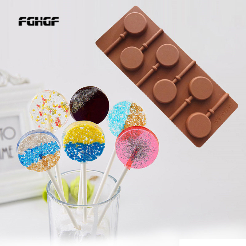Silicone round Lollipop Candy Cake baking molds Chocolate Cake