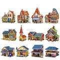 3D любовные чувства в мир поделки дом детские игрушки деревянные для взрослых ассамблеи строительные головоломки модель здания