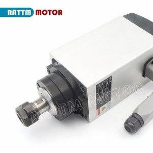 Image 2 - Carré 3KW ER20 refroidi par Air moteur de broche 4 roulements et 3kw VFD onduleur lecteur 220V pour CNC routeur gravure fraiseuse