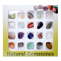 2017 JOVIVI 20x Mini Natural Gem Stones Chakra Stone Healing Balancing Kit for Collectors Reiki Healers Yoga Practioner Energy