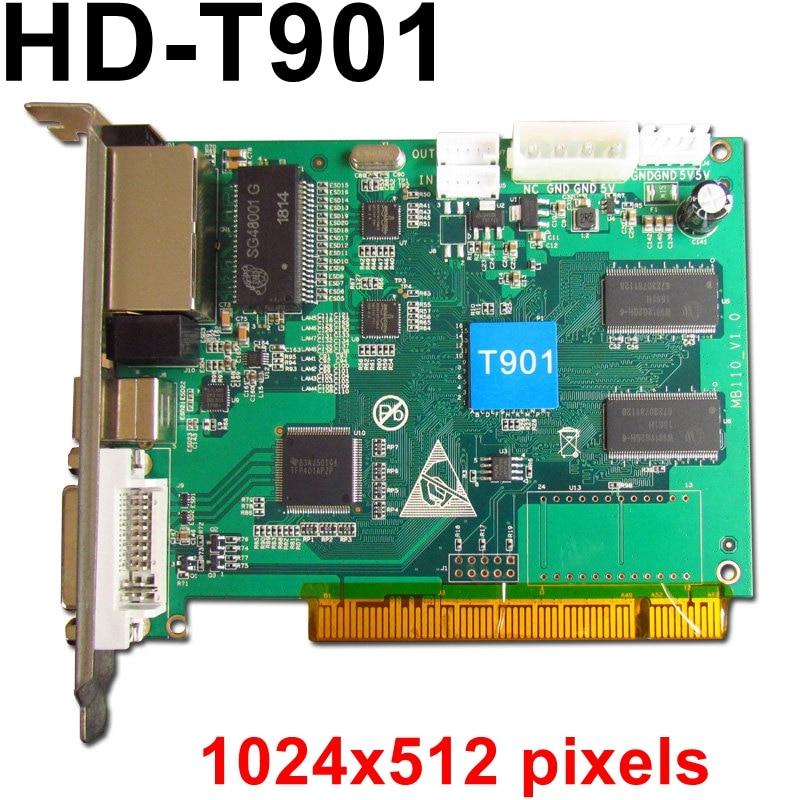 HD T901 synchronous full color led sending card 1024*512pixels RGB LED Video Controller for P2.5 P3 P4 P5 P6 P10 P8 TV wall