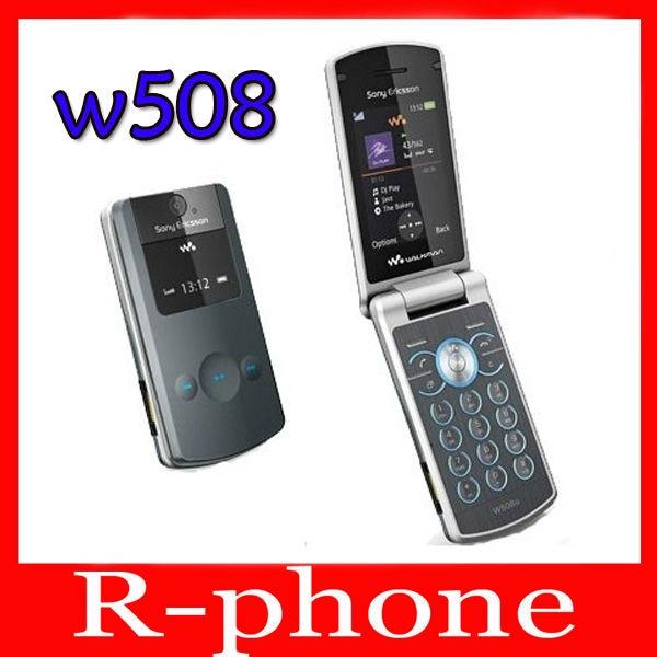 W508 Original Sony Ericsson W508 Unlocked Mobile Phone 3G 3.2MP Bluetooth MP3 Player Free Shipping