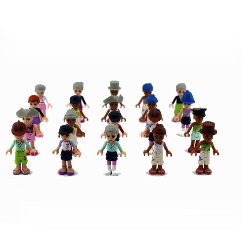 20Pcs 5cm DIY Blocks Summer Fun City Life Building Block model Kids Best Toys Gifts Random Shipments Playmobiles Assembly Toy
