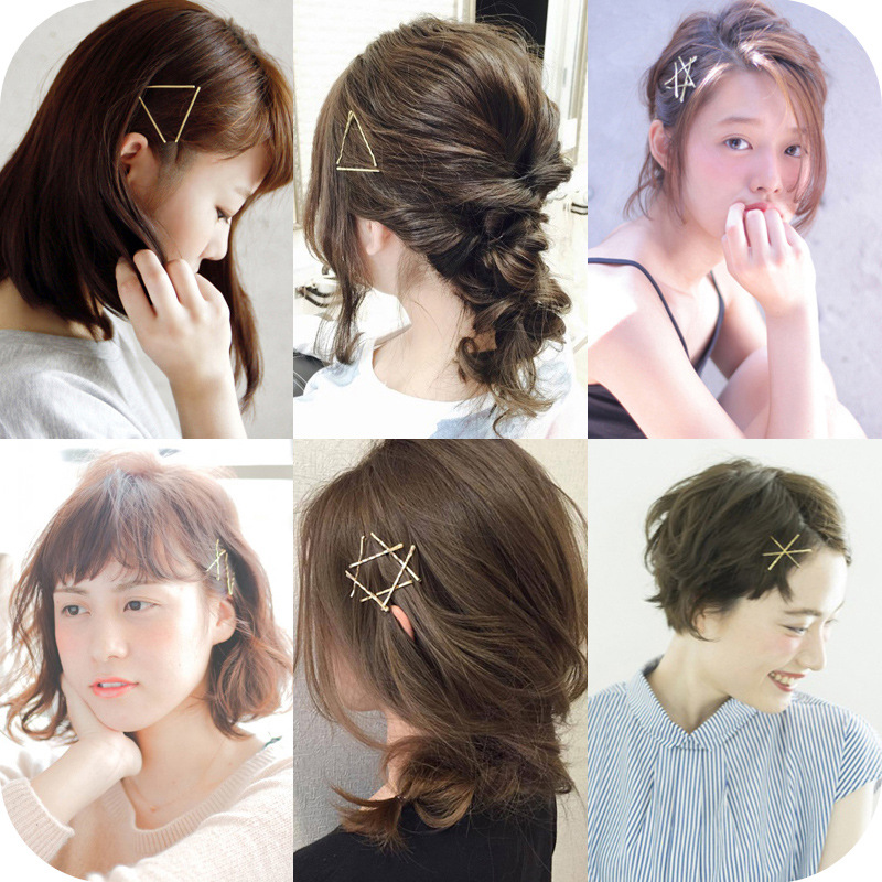 Drip Oil Hair Care Black High-grade Not Falling Paint Color Retaining Clip Hairpin Wire Bangs Clip
