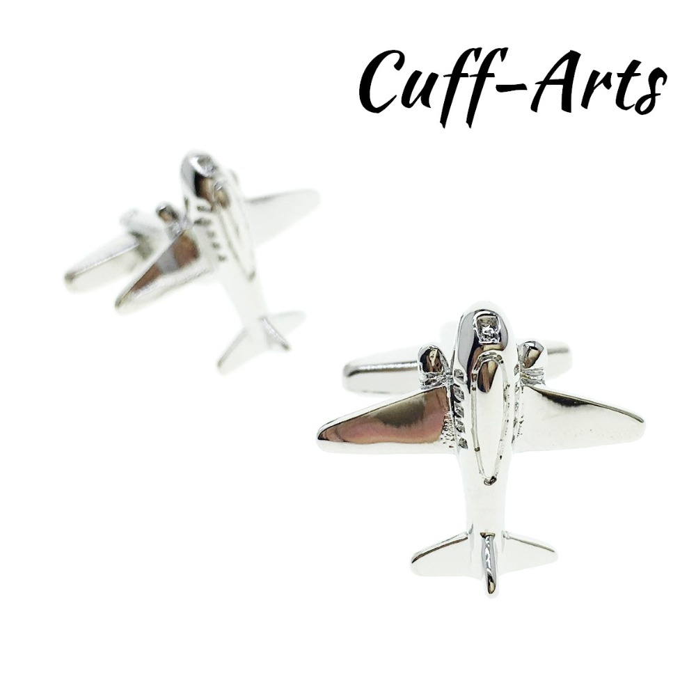 Cufflinks for Mens Airplane Aeroplane Aircraft Cufflinks Gifts for Men Jewelry Groom Gemelos Bijoux Homme by Cuffarts C10188 image
