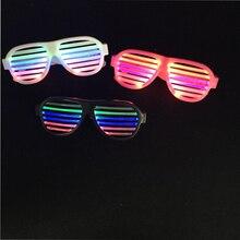 Со светодиодами танцевальные 2 шт./лот светодиодные очки, звук голоса, Управление световой вечерние свет костюм декоративный красочные светящиеся игрушки Usb Зарядное устройство для праздника