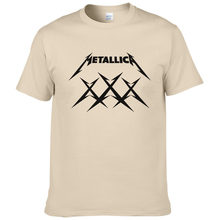 hot sale 2019 summer hip hop style streetwear Classic Heavy Metal Metallica Rock Men T Shirt 100% cotton hipster top tees #199(China)