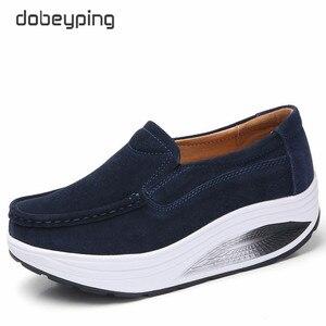 Image 3 - Dobeyping nowe buty wiosenne jesienne kobieta Slip On damskie mokasyny prawdziwej skóry płaski obcas kobiet buty mokasyny kobiece buty