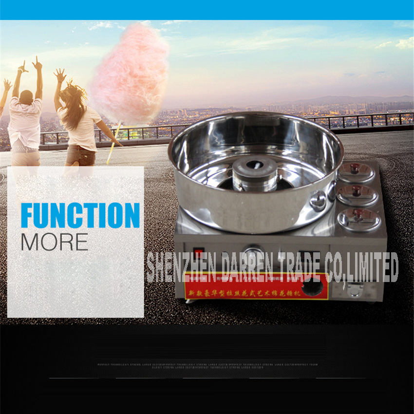SKT-1 220V New Luxury Cotton Candy Fancy Brushed / Electric Gas Cotton Candy Machine for Commercial Use 30W 430 stainless steel fancy pants candy corn
