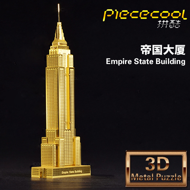 free shipping mini stereo 3d building models of nano metal sculpture