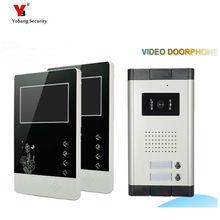 Yobang Security freeship 4.3 inch Apartments of 2 Units Kit Video Door Phone Video Intercom Entrance Doorbell phone Night Vision
