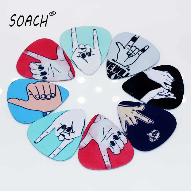SOACH 10pcs 0.71mm high quality two side picks DIY bass guitar accessries acoustic guitar pick Mediator parts