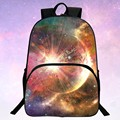 Retail  Hot Polyester 100% Printing Starry Sky  Baby Girl Gift Bags Black Children School Bags Boys Backpacks For Teenagers