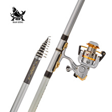 Zuanshi Rock Fishing Rod Combo 3.6-6.3M High Carbon super hard Rod Telescopic Fishing Rod High Performance Sea Fishing Pole