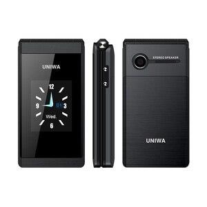 Image 2 - UNIWA X28  X 28 Flip Phone CellPhone Dual Screen GSM Senior Phone Dual SIM Card Russian Keyboard Batter than Land Rover X9